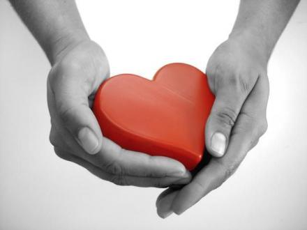 coração na mão
