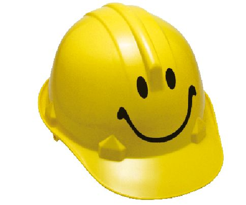 capacete feliz